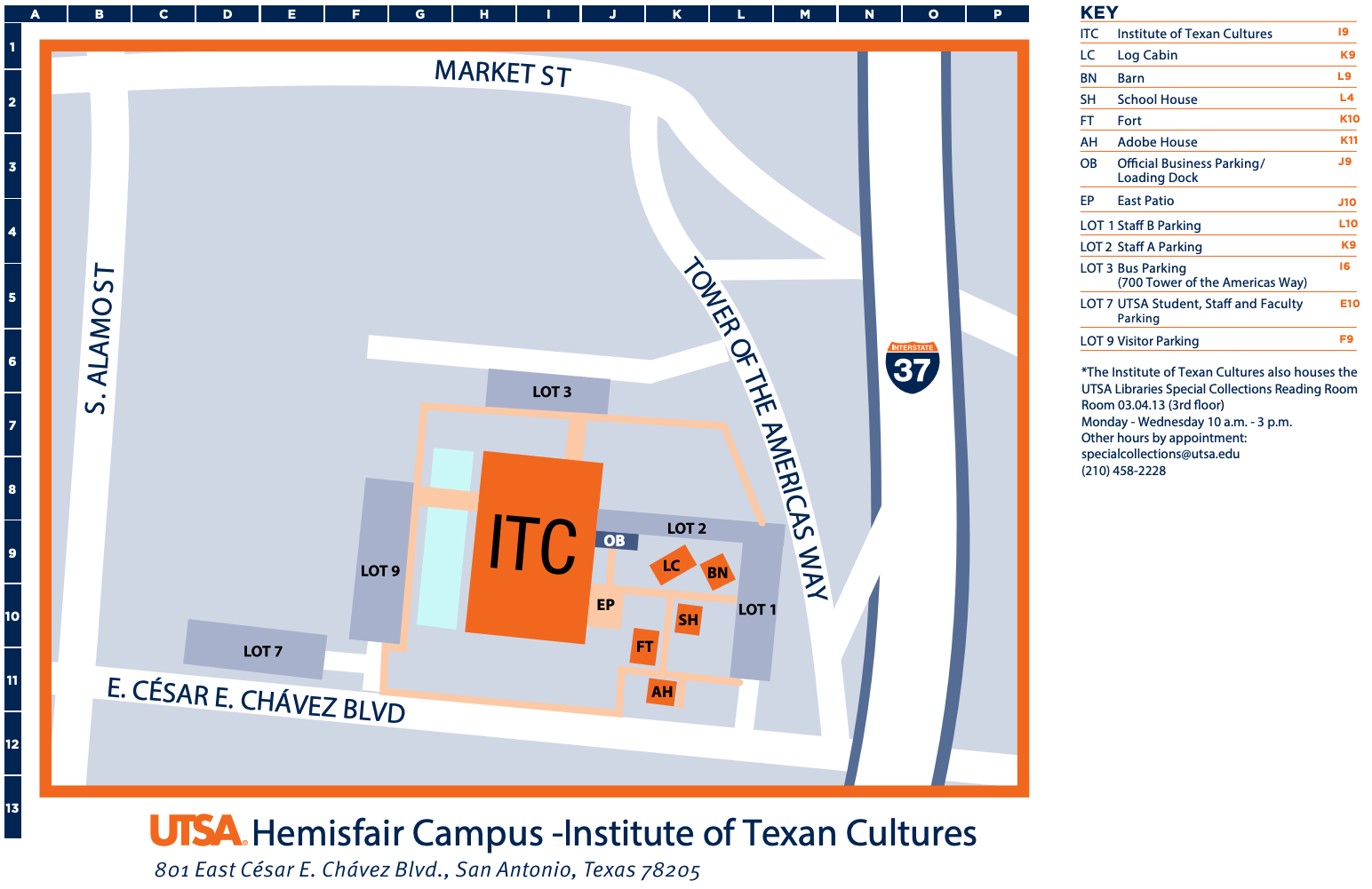 Utsa Downtown Campus Map Hemisfair Campus | UTSA | University of Texas at San Antonio