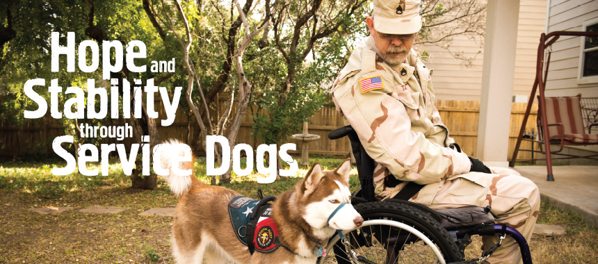 Help through Service Dogs