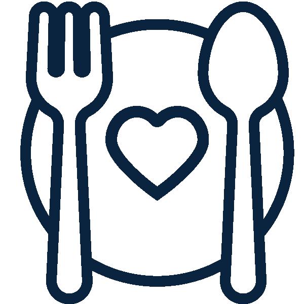 spoon, plate, fork