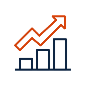 growth bar chart icon