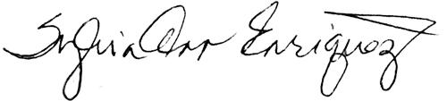 Sylvia Enriquez signature