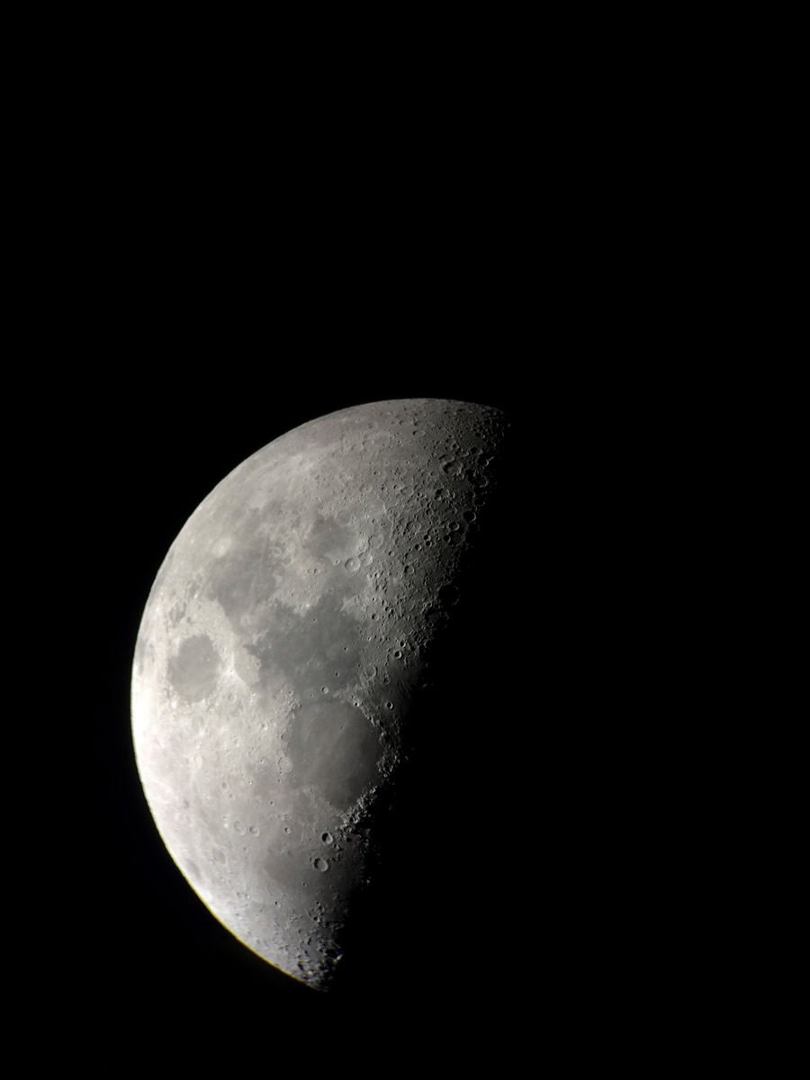 The moon's new