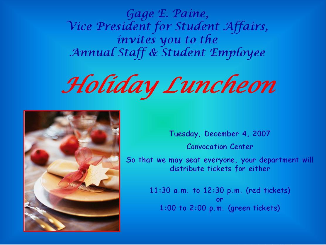 Wording For Invitations For Employee Appreciation Luncheon ...