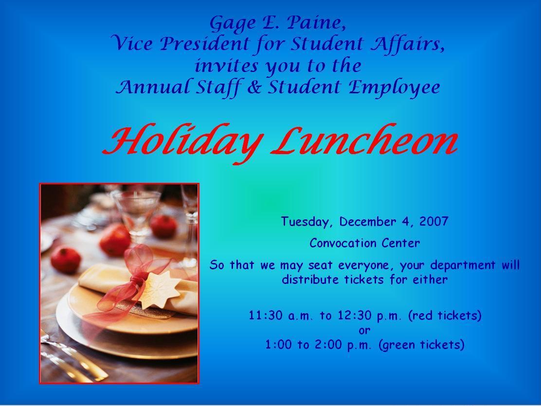 Employee Appreciation Lunch Invitation Sample | Infoinvitation.co
