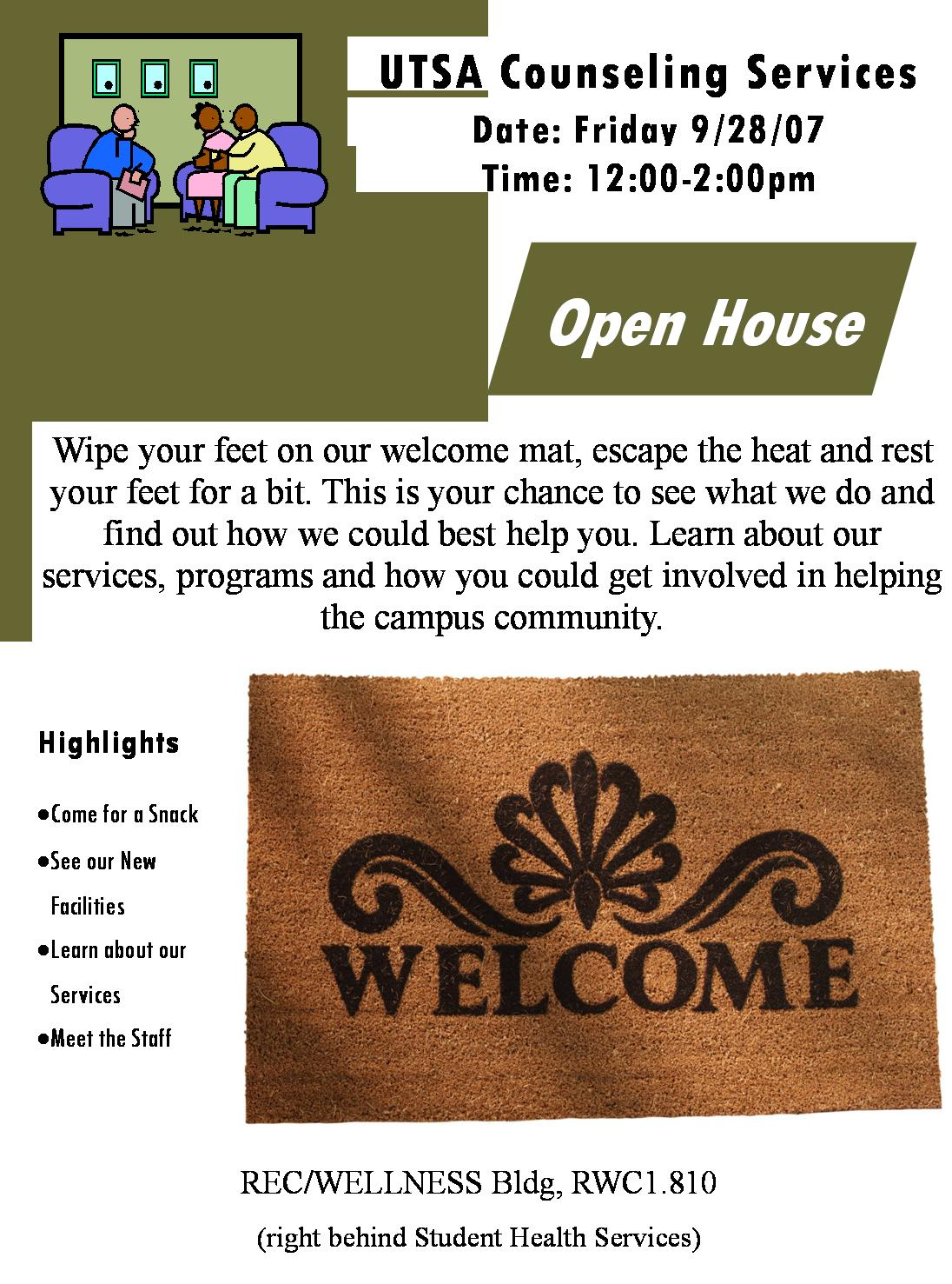 Wonderful Counseling Services Open House Invitation ...