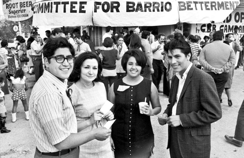 William Benavides, Gloria Cabrera, Rosie Castro M.A. '83 and Mario Compean