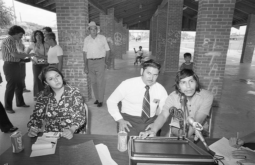 Rosie Castro, Modesto Rodriguez and Mario Compean