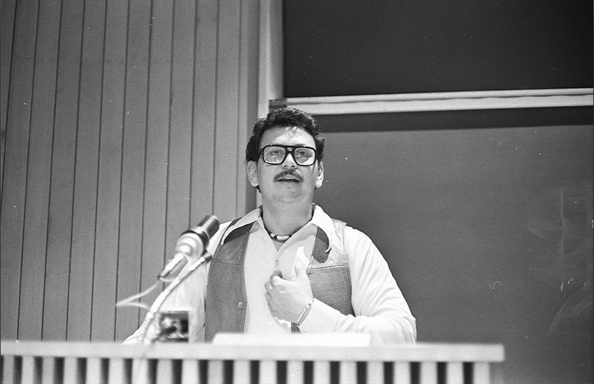 Zavala County Judge José Angel Gutiérrez speaks at UTSA