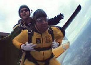 UTSA police chief parachute jump