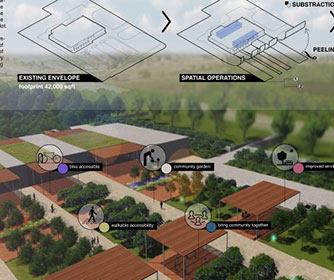 Architecture students reimagine big box stores as green space
