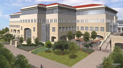 rendering of Biotechnology, Sciences and     Engineering Building