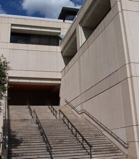 Stairs leading to Science Building
