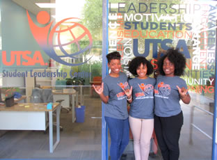 students at Student Leadership Center