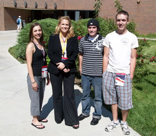 students at Democratic National Convention