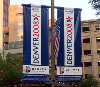 Democratic National Convention banners
