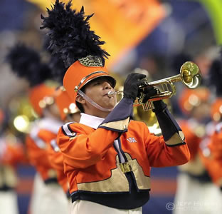 UTSA marching band member