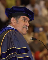 Pres. Romo at convocation