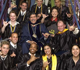 Ricardo Romo and UTSA graduates