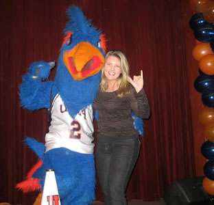 Rowdy Roadrunner and Kelsey Bratcher