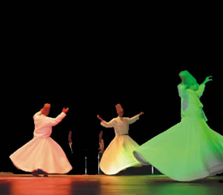 whirling dervishes performance