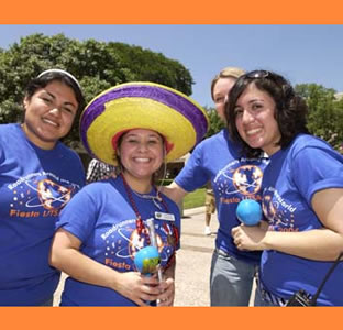 students at Fiesta UTSA