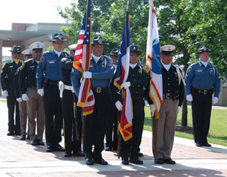 UTSA Police Department honor guard 2007