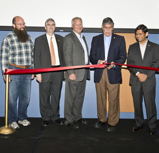 lab ribbon cutting