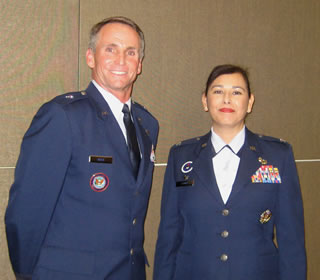Brig. Gen. Anthony Rock and Col. Lisa Firmin