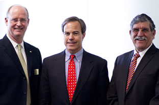 Bob McKinley, Joe Straus and Ricardo Romo