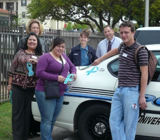 students and UTSA police