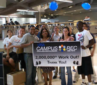 Campus Rec staff and students