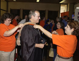 Fall Convocation robing