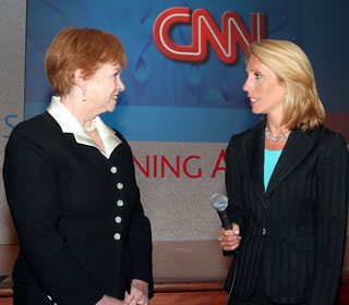 Harriett Romo and Dana Bash