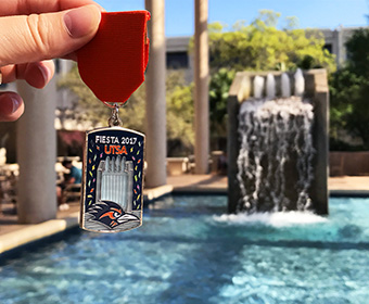 2017 UTSA Fiesta medal now on sale features iconic campus structure
