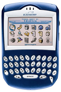 Blackberry handheld device