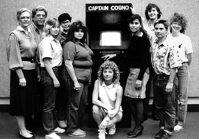 old computer and team