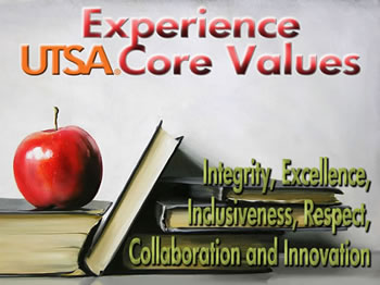 UTSA Core Values Initiative logo