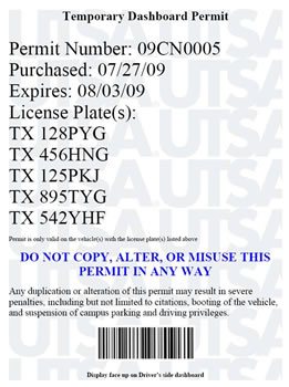 temporary permit