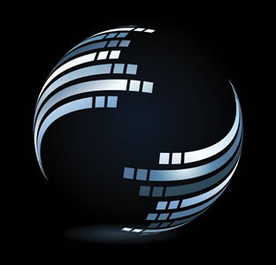 swirling globe