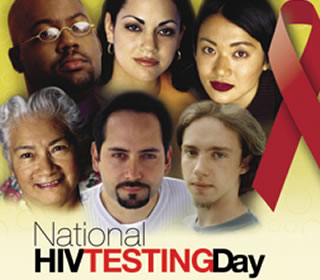 HIV testing poster