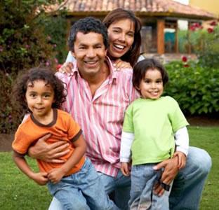 Latino family