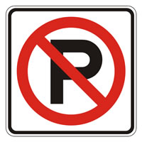 no-parking sign