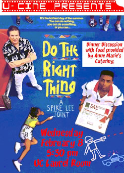 Do the Right Thing flier
