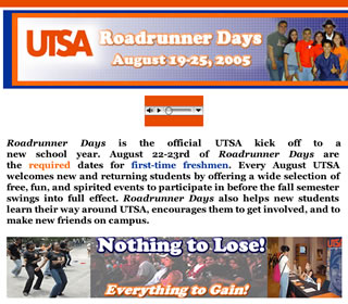 Roadrunner Days home page