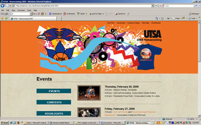 UTSA Homecoming Web site