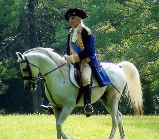 George Washington reenactor