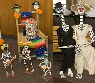El Dia de los Muertos exhibits