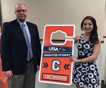 Student's colorful design to be featured on all 2017-18 UTSA parking permits.