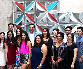 UTSA architecture student unveil new public art project on downtown garage
