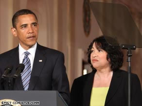 President Obama and Sonia Sotomayor